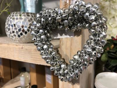 Silver Bell Heart (small)